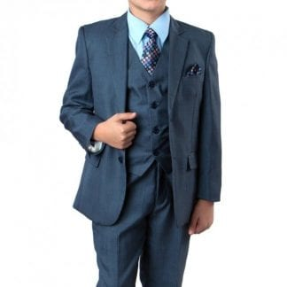 Boys Suit Dark Blue 5 Piece