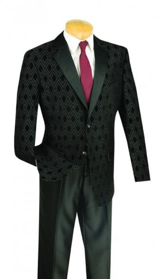 Charcoal with Black Lapel One Button Shawl Lapel Tuxedo