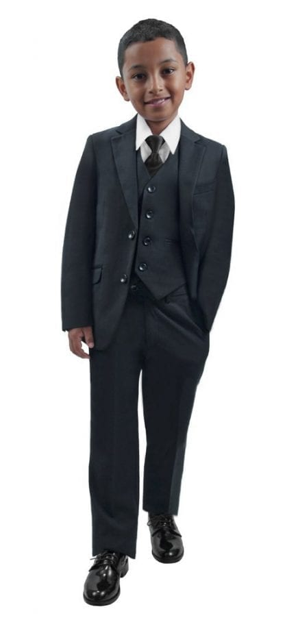Boys Microfiber Three Piece Suit
