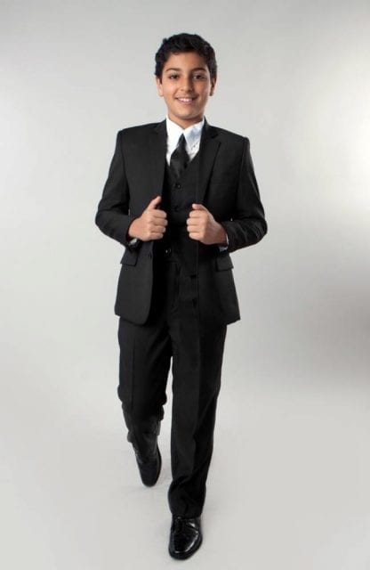 Boys Suit 5 Piece Solid Fully Tailored Suit Many Colors