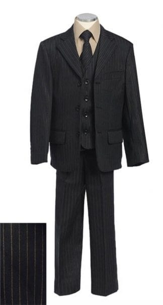 Boys Charcoal 3-Piece Matching Suit