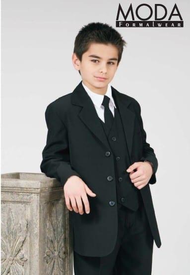 Boys Suit BLACK Infant Toddler Children Teen Suit