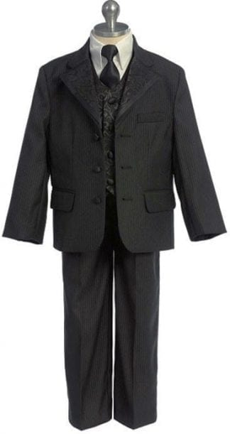 Boys Suit Black with different color Shirt Infant Toddler Children Teen