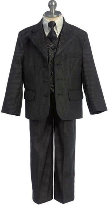 Boys Suit Black Stripe Infant Toddler Children Teen Suit Closeout