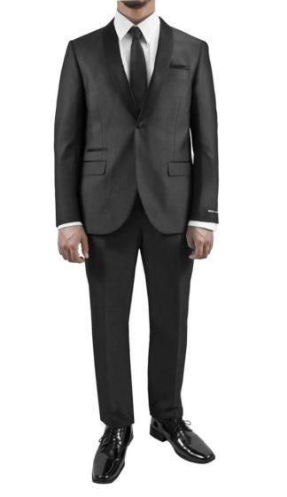 Black Tuxedo Mens Diamond Pattern