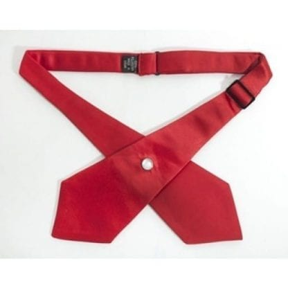 Cross Tie Red or Black Satin Continental Tie Cross Over for Men and Women