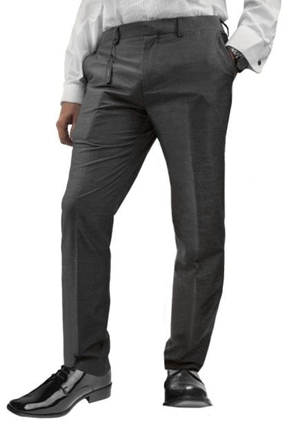 Dress Pants Slim Fit Gray Microfiber Wool Feel Dress Slacks