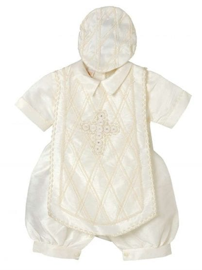 Ivory Christening Baptism Four Piece Gown