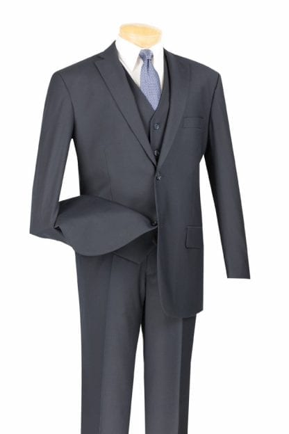 Men's Suit Single Breasted 2 Button with Matching Vest Many Colors- Wedding Prom Suit