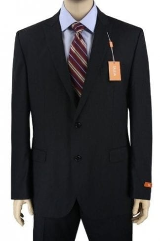 Mens Charcoal Windowpane Two Button Suit