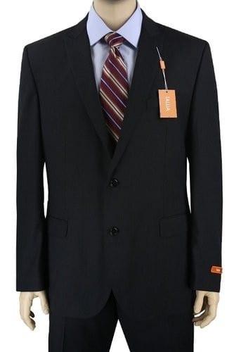Tallia Slim Fit Two Button Wool Peak Lapel Suit Pinstripe
