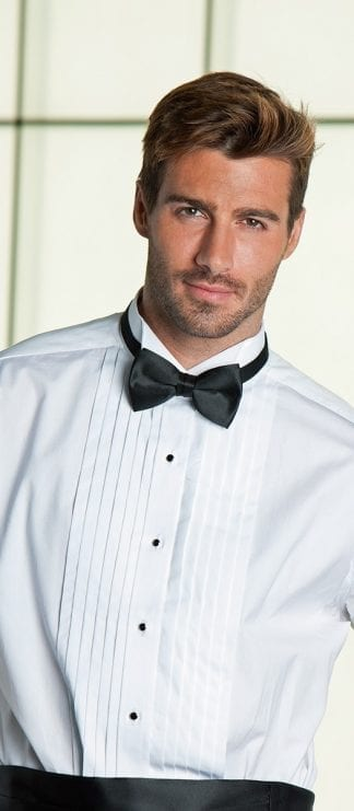 Tuxedo Shirt WHITE WING Collar All Cotton Tuxedo Shirt