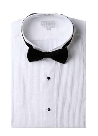 Men's Dress Shirt with French Cuffs and Knotted Cuff Links