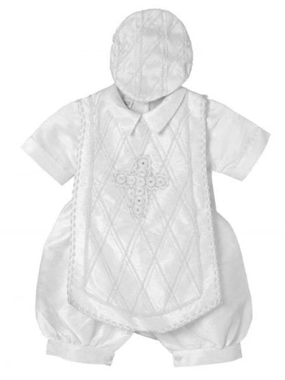 White Christening Baptism Four Piece Gown
