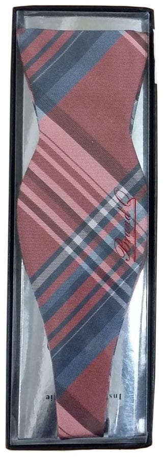 Bow Tie Self Tie Plaid Red
