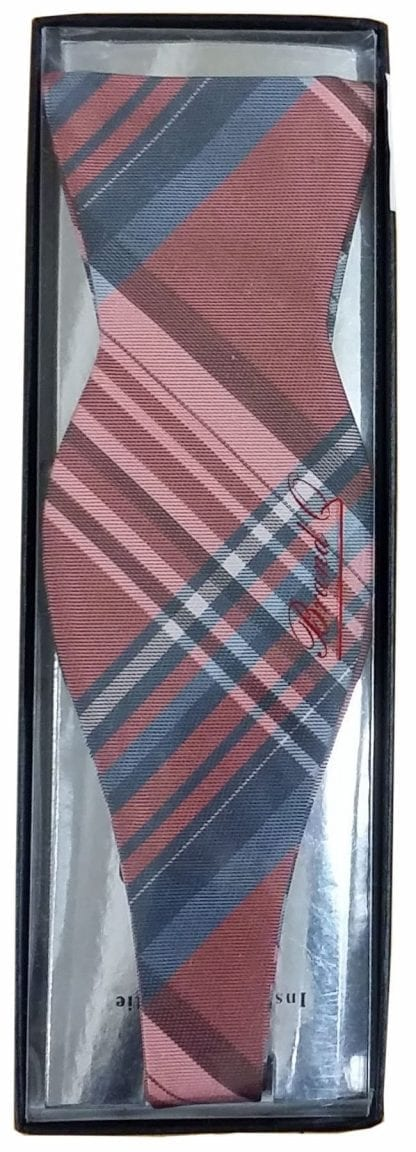 All Colors Plaid Pattern Self Tie Bow Tie and Pocket Square