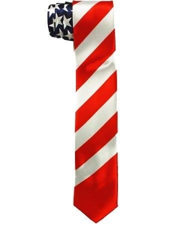 American Flag Slim Tie US American Flag Necktie