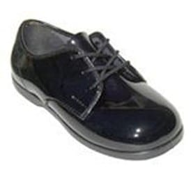 Baby Classic BLACK Patent Leather Lace