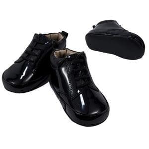 Tuxedo Shoes Mens Black Slim Square Toe Lace-Up Shoes