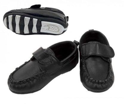 Baby Suit Dress Shoe Patent Leather with Velcro Strap