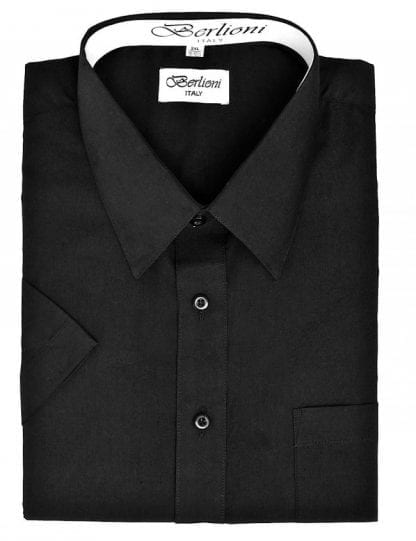 Dress Shirt Short Sleeve Black