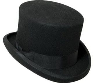 Black Silk Collapsible Top Hat