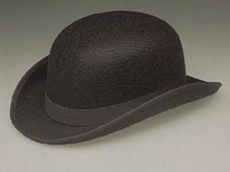 Bowler Hat Black Derby Tuxedo Costume Hat