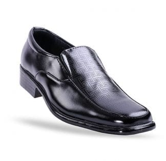 Boys Black Slip On Dress Shoe