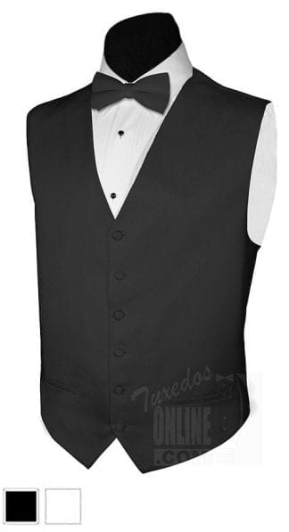 Camouflage Tuxedo Vest and Matching Bowtie