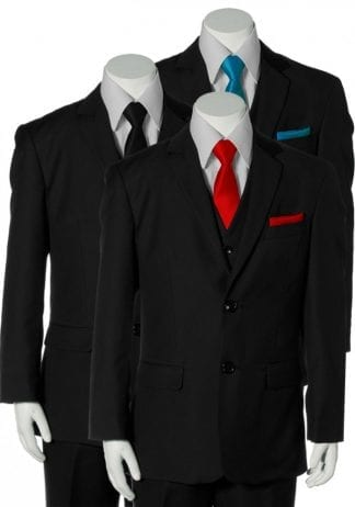 Boys Tuxedo With Any Color Vest Bow Tie And Necktie Toddler To Teen