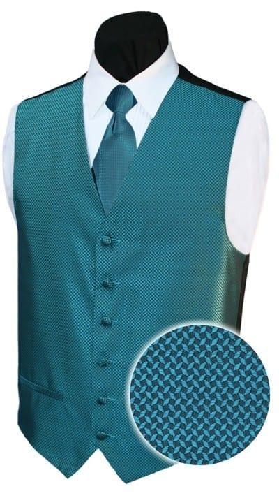 BOYS Tuxedo Vest AQUA Backless GEO Vest ONLY