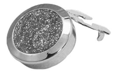 Button Cover Diamond Dust Silver Button Cover