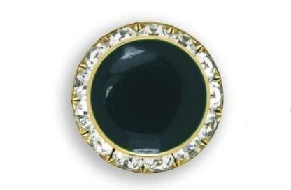 Button Cover FAUX HUNTER GREEN CRYSTAL EDGE Button Cover comes in Gold or Silver Setting