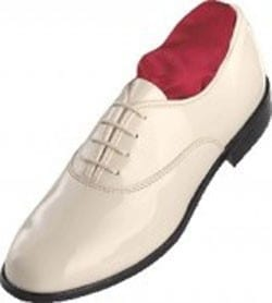 Classic WHITE Patent Leather Lace Up Tuxedo Shoes