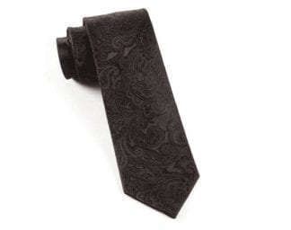 Men's Paisley Black Tie