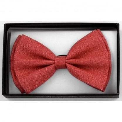 Bow Tie Cotton Red