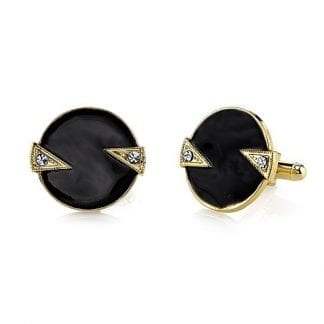 Diamond Patterned Silver Cufflinks Only by Vittorio Vico