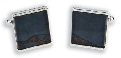 Obsidian Cuff Links Black