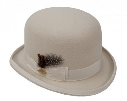 Derby Hat Bowler Hat Wool Felt Ivory