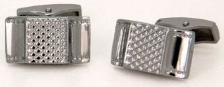Crystal Black Enamel Cuff Links
