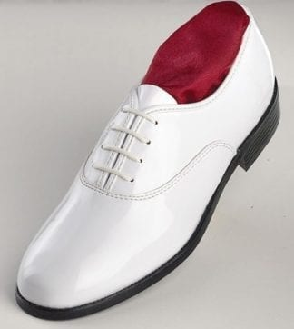 Classic WHITE Patent Leather Tuxedo Shoes