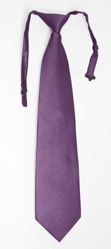 Solid Necktie Lavender Pre-Tie Geo