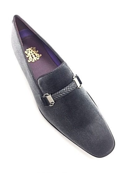 Slip On Suede Dress Shoes Gray Pewter
