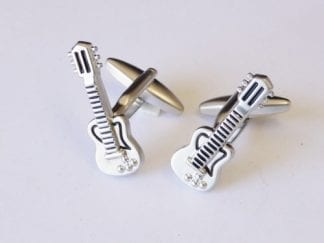 Dumbbells Silver with gold Trim Cufflinks