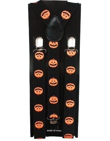 Halloween Pumpkin Mens Suspenders