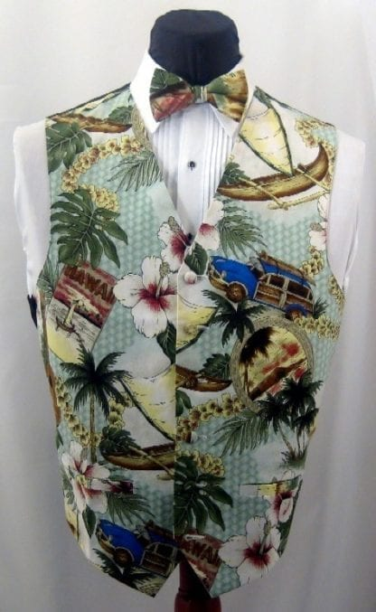 Hawaiian Paradise Mens Vest ONLY- Closeout