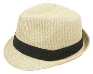 Fedora Hat DARK COFFEE Black Banded with Feather