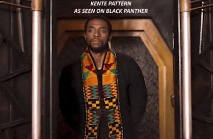 Kente Cloth African Patterned Scarf for Kwanza