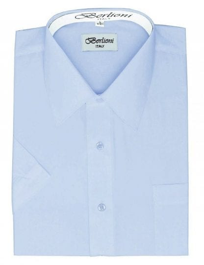 Dress Shirt Short Sleeve Blue