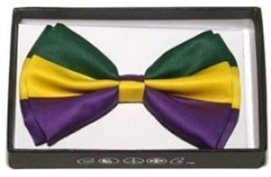 Mardi Gras Green, Yellow, Purple Bow Tie